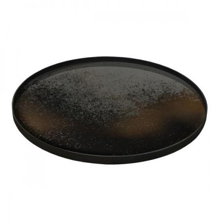 Bronze mirror tray - round...
