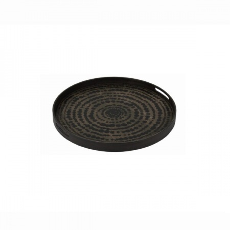 Black Beads wooden tray -...