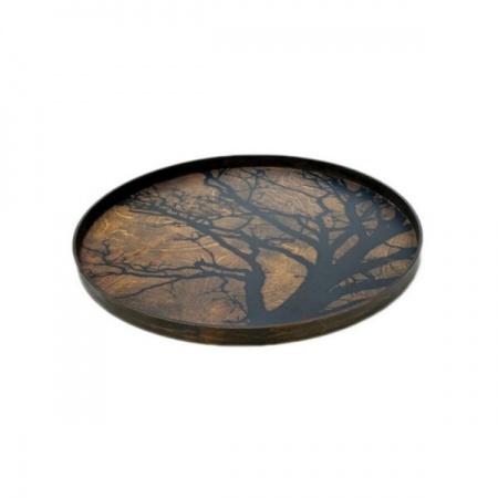 Black Tree wooden tray -...