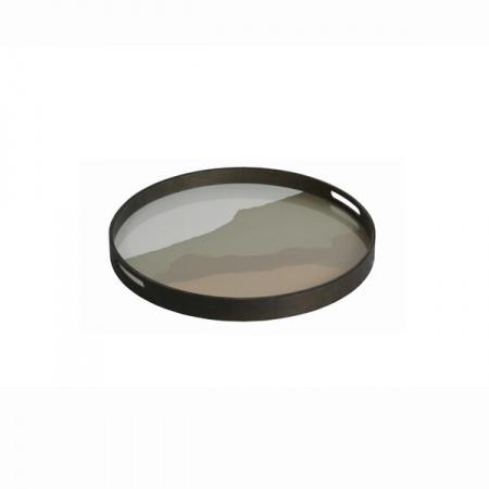 Sand Wabi Sabi glass tray -...