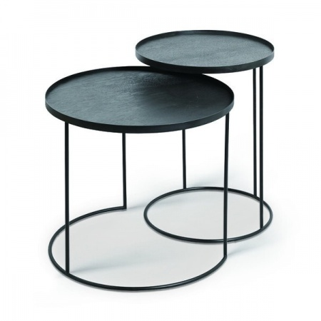 Round tray side table set -...