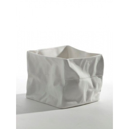 Bougeoir porcelaine sac en...