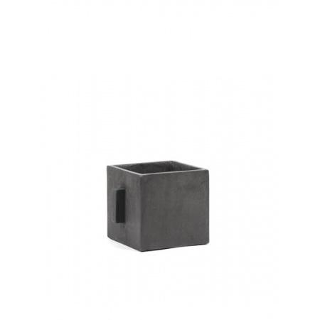 Pot de fleurs carré S - Noir
