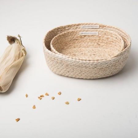 Paniers, Maïs, Lot de 2