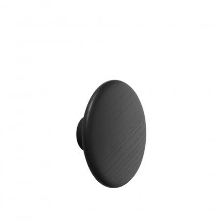 Patère Dots Wood Ø17 - Noir