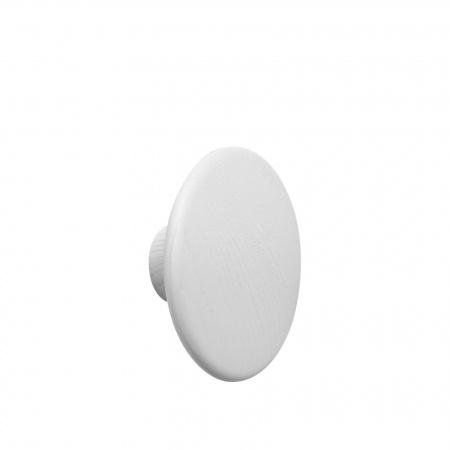 Patère Dots Wood Ø17 - Blanc