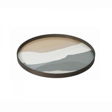 Slate Wabi Sabi glass tray...