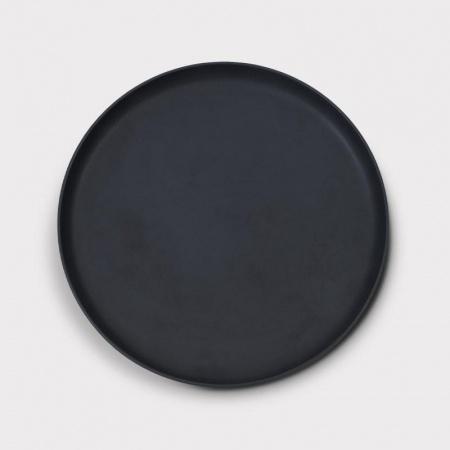 Assiette Brooklyn Noire 26cm