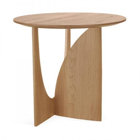 Oak Geometric side table -...