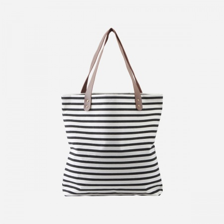Shopping bag Stripes - Noir...