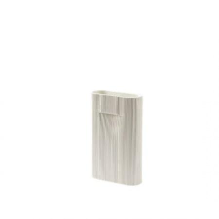 Vase Ridge H35 cm - Blanc...