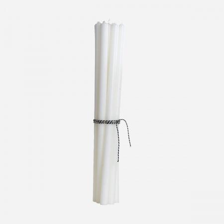 Bougie fine H30 cm - Blanc
