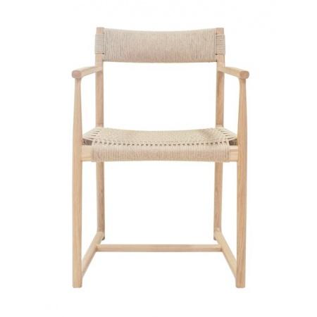 Chaise accoudoir - Chêne clair