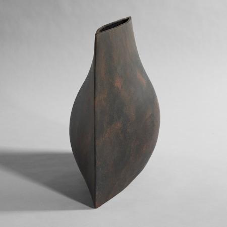 Vase Origami, Grand, Café