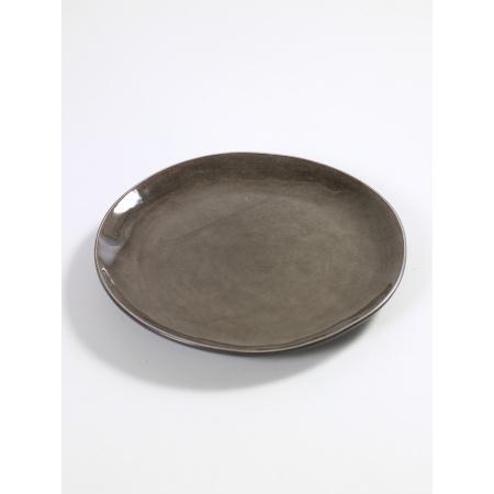 Assiette ronde Pure - S - Gris