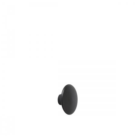 Patère Dots Wood Ø6,5 - Noir