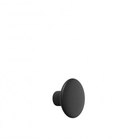 Patère Dots Wood Ø9 - Noir