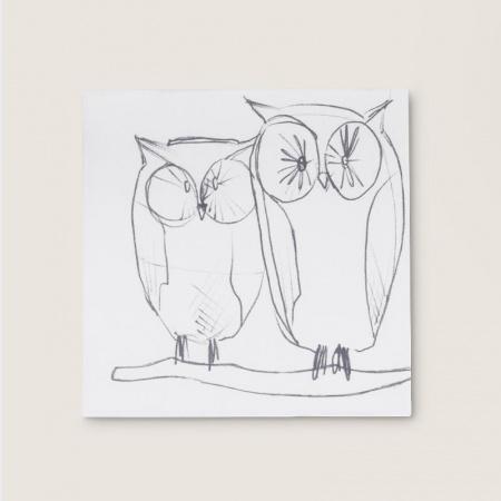 Serviettes en papier - Owl