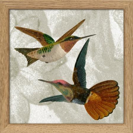 Cadre oiseaux -  15x15 cm