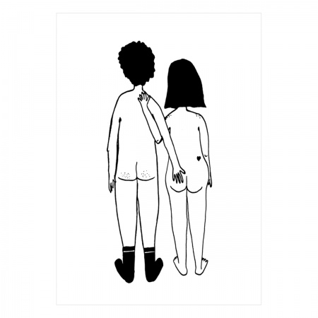 Carte postale Naked couple...