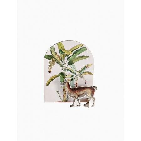 Carte thème tropical - Lama