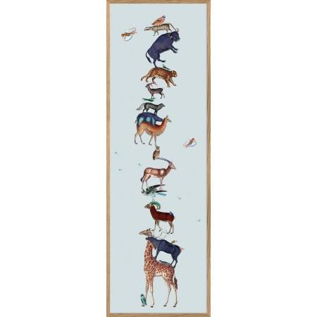 Cadre Blue animal tower -...