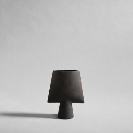Vase Sphere, Square Mini, Café