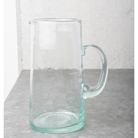 Carafe en verre recyclé -...